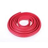 Zdjęcie - Rzemień półokrągły szyty czerwony