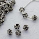 Zdjęcie - Koralik z kryształkami wzorki jet