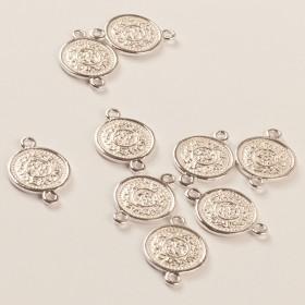 Zdjęcie - Srebrny łącznik moneta ag925