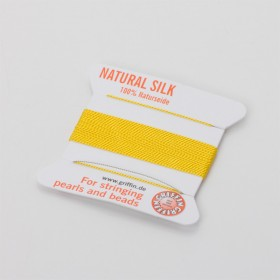 Zdjęcie - Nici jedwabne z igłą yellow