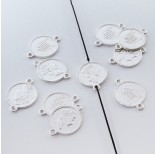 Zdjęcie - Srebrna moneta łącznik Elżbieta II