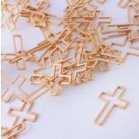 Zdjęcie - Baza geometryczna ze stali chirurgicznej krzyż złoty