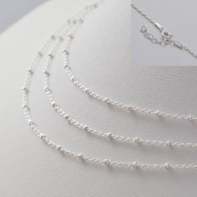 Zdjęcie - Gotowy łańcuszek ozdobny z oponkami diamentowanymi AG925