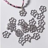 Zdjęcie - Zawieszka ze stali chirurgicznej kwiatek