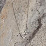 Zdjęcie - Srebrny rodowany koralik serduszko, Ag925