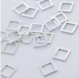 Zdjęcie - Srebrna zawieszka- łącznik kwadrat wycinany AG925 srebrny