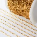 Zdjęcie - Łańcuch ze stali chirurgicznej owal wąski złoty
