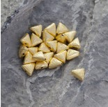 Zdjęcie - Srebrny satynowy koralik trójkąt Ag925 pozłacany