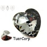 Zdjęcie - 6228 heart pendant, SWAROVSKI, silver night,