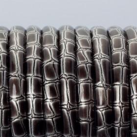 Zdjęcie - Rzemień płaski klejony srebrny bambus