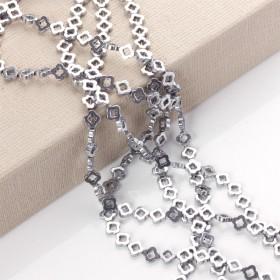 Zdjęcie - Hematyt wycięty kwiatek błyszczący srebrny