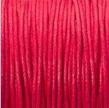 Zdjęcie - Sznurek bawełniany woskowany czerwony