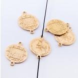 Zdjęcie - Srebrna moneta łącznik wojownik pozłacany