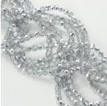 Zdjęcie - Kryształki kulki fasetowane half silver