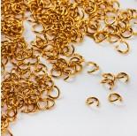 Zdjęcie - Kółeczka ze stali chirurgicznej zaciskowe w kolorze złotym
