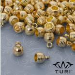 Zdjęcie - Rowkowana końcówka do rzemieni w kolorze złotym