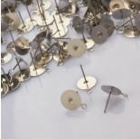 Zdjęcie - Sztyfty z talerzykiem do naklejania i podwieszania ze stali chirurgicznej