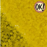 Zdjęcie - Koraliki SeedBeads Round Frosted Yellow