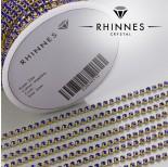 Zdjęcie - Taśma z kryształkami kolor złoty sapphire