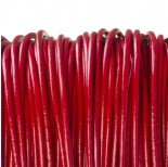 Zdjęcie - Rzemień naturalny lakierowany czerwony