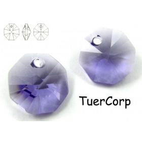 Zdjęcie - 6401 octagon pendant, SWAROVSKI, tanzanite,