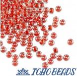 Zdjęcie - Koraliki TOHO Round Inside-Color Crystal/Tomato Lined
