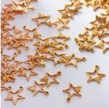 Zdjęcie - Zawieszka ze stali chirurgicznej dwie gwiazdki złoty