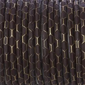 Zdjęcie - Rzemień klejony brązowy ze wzorem