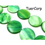 Zdjęcie - Masa perłowa krążek zielony