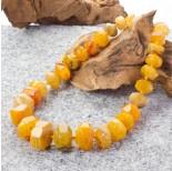 Zdjęcie - Agat oponki ciosane stopniowane bursztynowe