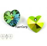 Zdjęcie - 6228 heart pendant, SWAROVSKI, vitrail medium,