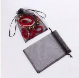 Zdjęcie - Woreczek z organzy do biżuterii czarny