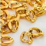 Zdjęcie - Ogniwa łańcucha z kryształkami