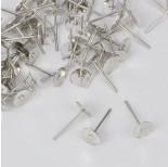 Zdjęcie - Sztyfty talerzyki w kolorze ciemnego srebra