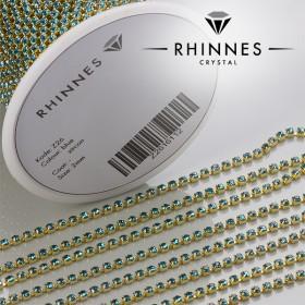 Zdjęcie - Taśma z kryształkami kolor złoty blue zircon