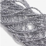 Zdjęcie - Hematyt kulki fasetowane srebrne