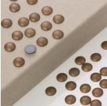 Zdjęcie - Hematyt platerowany kaboszon krążek brązowy mat