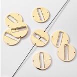 Zdjęcie - Baza do beadingu łącznik kółko ze stali chirurgicznej pozłacany