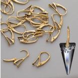 Zdjęcie - Bigle angielskie do kryształów Swarovski, Ag 925, pozłacane