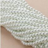 Zdjęcie - Perły szklane białe