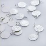 Zdjęcie - Srebrna zawieszka moneta Królowa Elżbieta AG925 srebrny