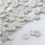 Zdjęcie - Zawieszka metalowa monet z dziurką