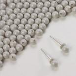 Zdjęcie - 5818 round pearl do kolczyków pastel grey