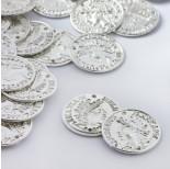 Zdjęcie - Łącznik metalowy moneta dwie dziurki