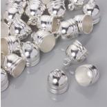 Zdjęcie - Końcówki do rzemieni i sznurków beczułki w srebrnym kolorze
