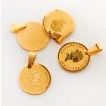 Zdjęcie - Zawieszka ze stali chirurgicznej moneta złota