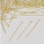 Zdjęcie - Szpilki z płaską główką w kolorze złotym
