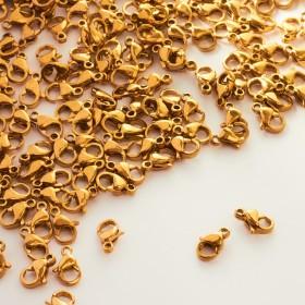 Zdjęcie - Karabińczyk ze stali chirurgicznej złoty