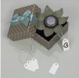 Zdjęcie - Metka z gumką do biżuterii biała
