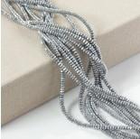 Zdjęcie - Hematyt oponka fasetowana platerowana srebrna